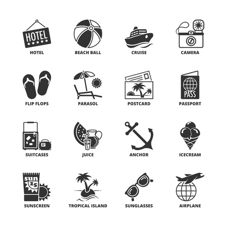 Icon set about summer vacations