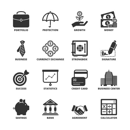 savings: Icon set about finance