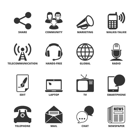handsfree: Icons set about communication