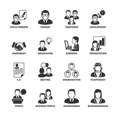 conjunto: Icono de conjunto acerca de los negocios Vectores