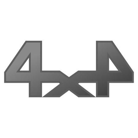 4x4 off-road vector dark simbol