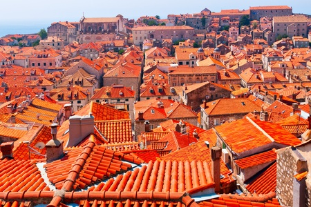 Good Red Roofs In Dubrovnik Stock Photo   13082211