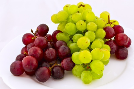 white and red grapes Stock Photo - 13106344