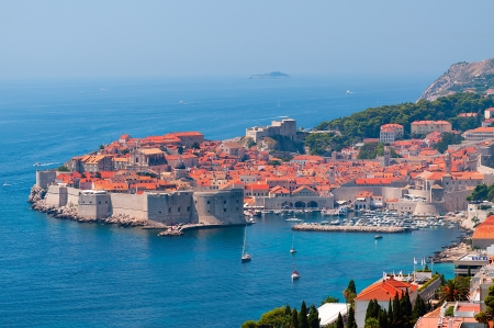 adriatic: red roofs of Dubrovnik
