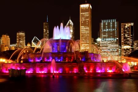 2010 年 9 月 13 日、シカゴ バッキンガム噴水 報道画像