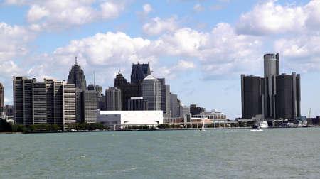 Detroit, September 12, 2010, Skyline viewed across river