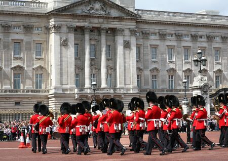 Changing of the Guard in front of Buckingham Palace, London, England, July 14, 2009