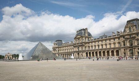 Louvre Museum Courtyard in Paris, July 3, 2009