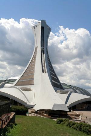 Montreal, Quebec, 13 augustus 2008, Olympisch stadion gebouwd voor de Olympische Zomerspelen 1976 Stockfoto - 9073445
