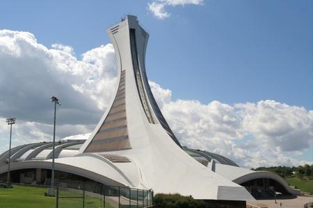 Montreal, Quebec, 13 augustus 2008, Olympisch stadion gebouwd voor de Olympische Zomerspelen 1976 Stockfoto - 9073444