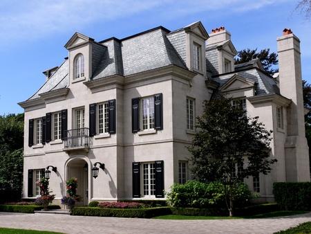 Lake Forest, Illinois, USA, Aug. 17, 2010.  Elegant mansion style house Editorial