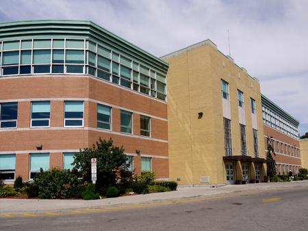 schulgeb�ude: Chicago, USA, Aug 8, 2010, Modern High School Geb�ude