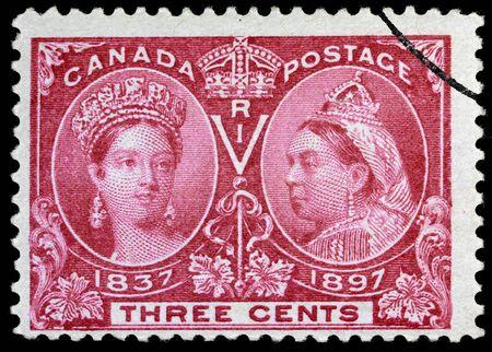 Ottawa, Canada, 1897, stamp for Queen Victoria's 60th anniversary Stock Photo - 9601158