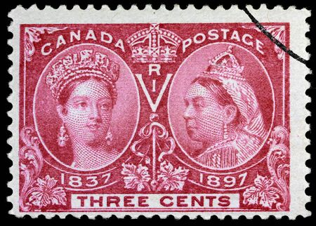 canada stamp: Ottawa, Canada, 1897, stamp for Queen Victorias 60th anniversary
