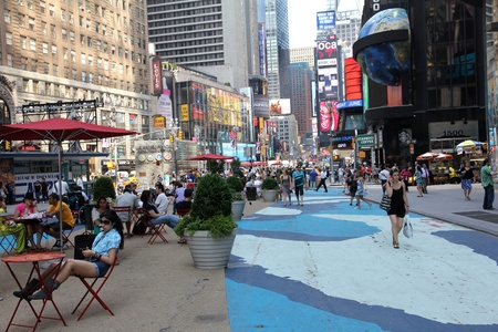 New York City, May 2011, Times Square Pedestrian Area