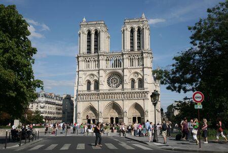 Paris, France, July 2009 - Notre Dame Cathedral