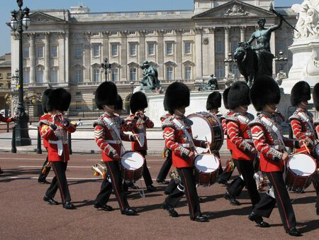 London, England, June 2007 -  marching band at Buckingham Palace