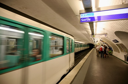 Paris, France, July 2009 - subway station