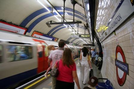 London, England, June 2007 -  Busy underground station
