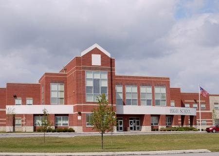 Chicago, USA, September 2010 - Modern high school building