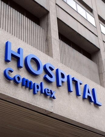 Chicago, USA, November 2007 - large modern hospital building Stock Photo - 9777164