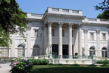 Newport, RI, USA, July 2008 Marble House, historic mansion Stock Photo - 9777172