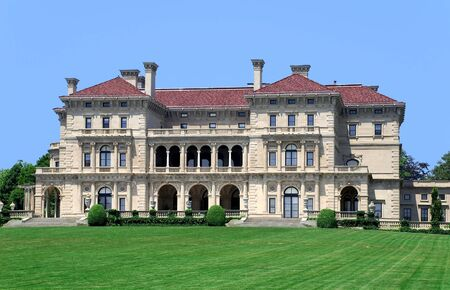 mansion: Newport, RI, USA, July 2008 -  Breakers, historic mansion Editorial