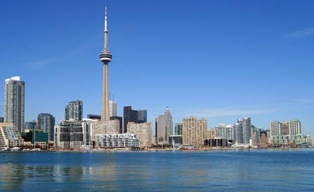 Toronto, Canada, April  2007 - city skyline from Lake Ontario