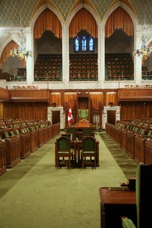Ottawa, Canada, September 2010 - Canadian Parliament Building House of Commons Chamber Redakční