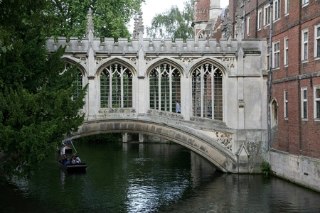 Cambridge, England, July 2009 - Cambridge University Bridge of Sighs Stock Photo - 9789632