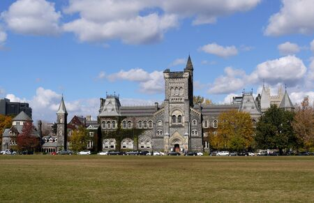 Toronto, Canada, October 2010 - University of Toronto historic college building Stock Photo - 9789625