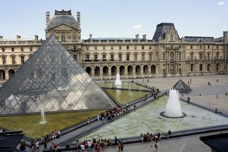 Paris, France, July 2009 - Louvre Museum Courtyard