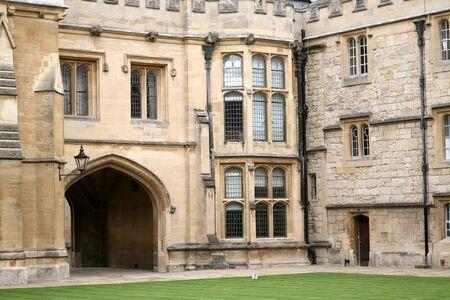 Oxford, England, July 2009 - Merton College Courtyard