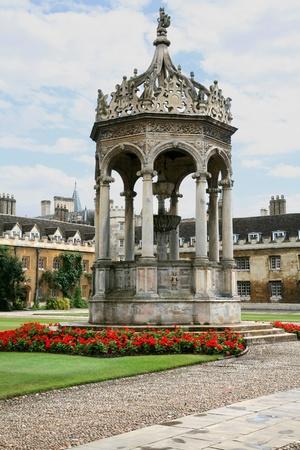 university fountain: Cambridge, England, July 2009 - Cambridge University, Trinity College Gothic Fountain