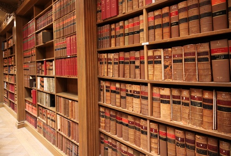 library: Toronto, Canada, May 2010 - old law books in library of Osgoode Hall