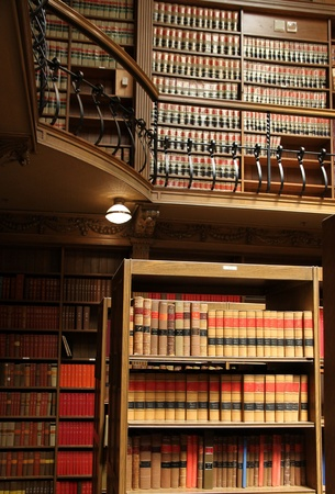 New Haven, CT, June 2011 - Yale University Library bookshelves with law books Redakční
