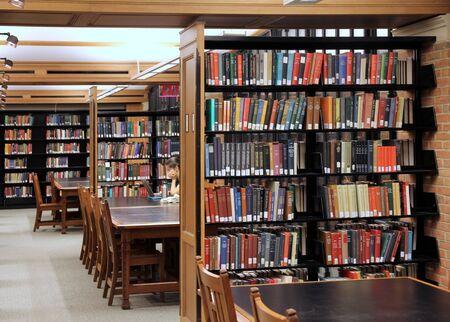 New Haven, CT, June 2011 - Yale University Library study room Redakční