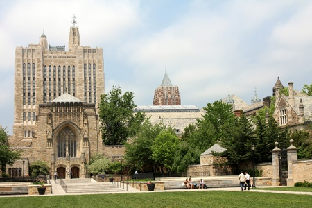 New Haven, CT, June 2011 - Yale University Campus with Sterling Library Stock Photo - 9889451