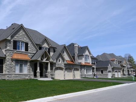 suburban: Chicago, USA, May 2011 - suburban street with modern houses