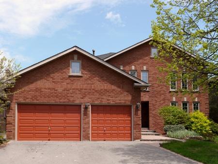 suburban: Chicago, USA, July 2011 - suburban house with large garage