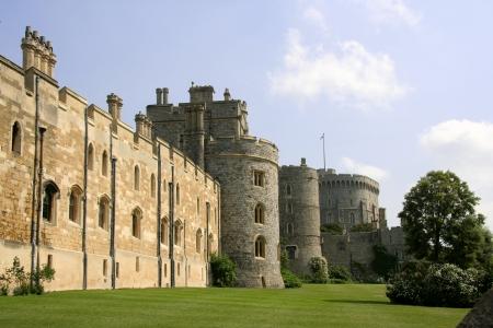 Windsor, England, June 2007 - Exterior castle wall of Windsor Castle