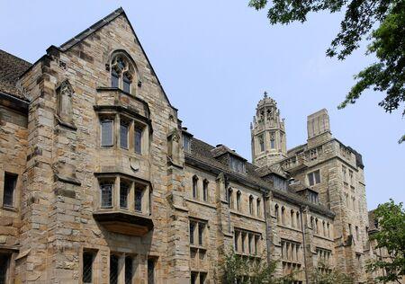 Gothic style university building, Yale University