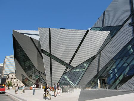 Toronto, Canada, July 2007 -  Royal Ontario Museum crystal addition by architect Daniel Libeskind