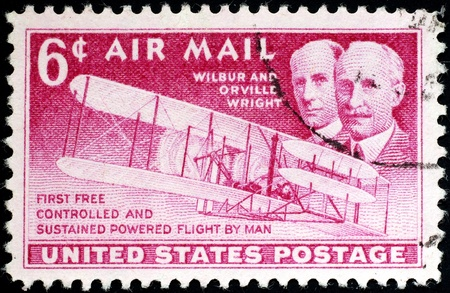 Washington, DC, 1949 - US airmail stamp honoring first flight of the Wright Brothers Stock Photo - 10006966