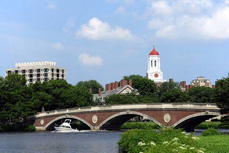 cambridge: Cambridge, Massachusetts, July 2008 - Harvard University seen from across Charles River