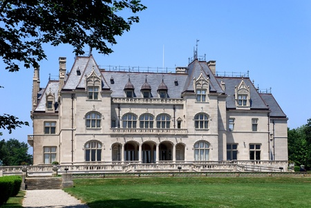 mansion: Newport, Rhode Island, June, 2008 - Salve Regina University in historic Ochre Court Mansion, in the style of a French chateau