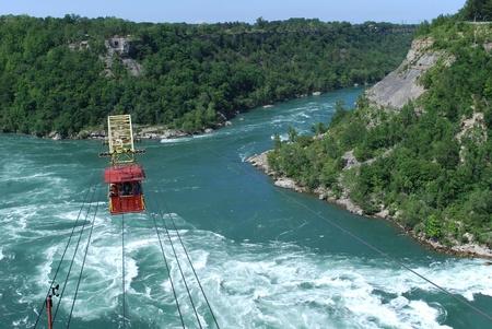 Niagara Falls, USACanada, June 2008 - Whirlpool rapids cable car ride