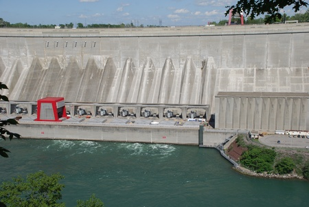Niagara Falls, USA, June 2008 - New York State Power Authority Hydroelectric Dam Stock Photo - 10052264
