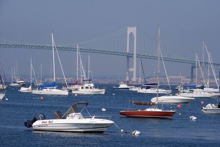 Newport, RI, USA, July 2008 - Boats in marina in Newport Harbor
