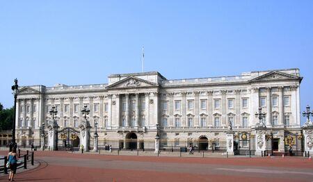 London, England, June 2007 -  Buckingham Palace early on Sunday morning without the crowds Editöryel